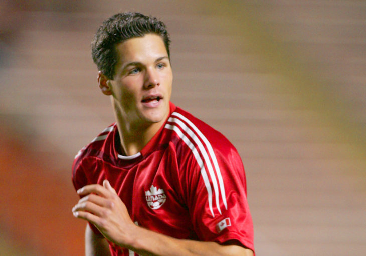Simpson during a FIFA World Cup Qualifying match in 2004. (Canada Soccer)