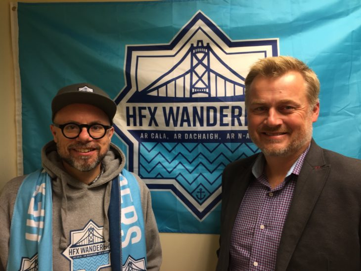 HFX Wanderers FC Founder and President Derek Martin is thanking James Covey for his support.